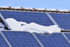 Free Solar Modules With Snow Stock Photos - 49411803