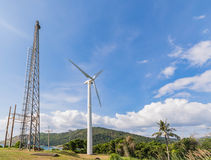 Solar mountain next to the sea in Phuket, Thailand Stock Photography