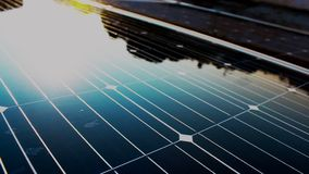 Solar nature power at home stock video footage