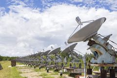 Solar- Observatorium in Ost-Sibirien Stockfotos