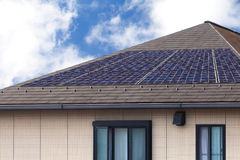 Solar panal roof Stock Image