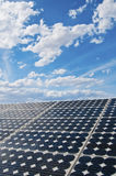 Solar panel. With beautiful blue sky and clouds in background Royalty Free Stock Photography