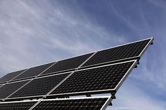 Solar panel. An array of solar cells or solar panels turning sunlight into electrical energy Stock Photo