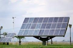 Solar Panel. Providing free energy from the sun Stock Photos