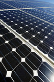 Solar panel. Some photovoltaic boards in an Energy generatin station Royalty Free Stock Photography