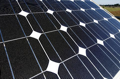 Solar panel. Some photovoltaic boards in an Energy generation station Royalty Free Stock Images