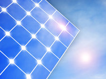 Solar panel. Below blue sky Stock Photo