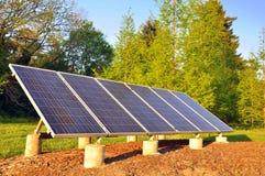 Solar panel. In a garden, eco energy concept Royalty Free Stock Photo
