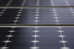 Solar panel. Generates energy from sun light stock images