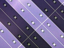 Solar panel. In purple colour with diagonal geometry Stock Photo