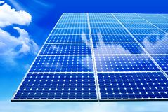 Solar panel. Against blue sky Stock Photography