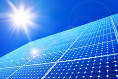 Solar panel. Against blue sky Stock Images