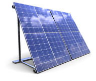 Solar panel. 3d illustration of solar panel over white background Stock Photo