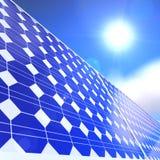 Solar panel. Over a sunny blue sky Stock Photography