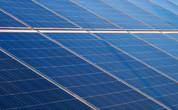 Solar panel. Some solar panels which are part of a huge  solar power plant Stock Photos