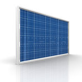 Solar panel. On a white background. Green energy from the sun Royalty Free Stock Photos