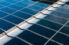 Solar Panel. S installed on a plain roof Stock Photo