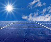 Solar panel. S. Green energy from sun royalty free stock photos