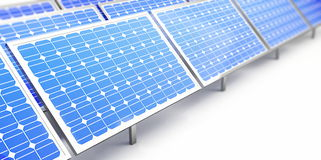 Solar panel. On a white background Stock Photo