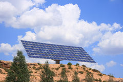 Solar panel. Over blue sky Stock Images