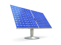 Solar Panel. 3D rendered Illustration. A single solar panel, isolated on white Stock Photo