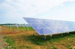 Solar panel. Construction and a blue sky Stock Photo