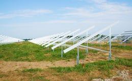 Solar panel. Construction and a blue sky Royalty Free Stock Photos