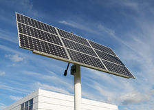 Solar panel. Near an office building Royalty Free Stock Photo
