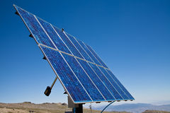 Solar panel. Modern sola panel, ready to transform light into electricity Stock Image