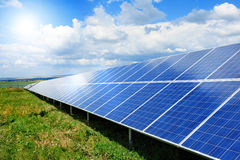Solar panel. Produces green, enviromentaly friendly energy from the sun Stock Images