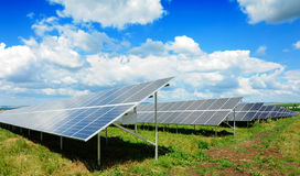 Solar panel. Produces green, enviromentaly friendly energy from the sun Royalty Free Stock Image