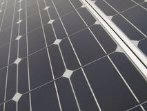 Solar Panel. A close up diagonal view of a large Solar Panel Royalty Free Stock Photography