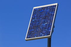 Solar panel. The single solar panel in the blue sky Royalty Free Stock Photos