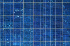 Solar Panel. Rectangular pattern captured from a blue solar panel Stock Images