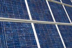The Solar Panel. Closeup view of solar panels Royalty Free Stock Image