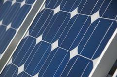The Solar Panel. Closeup view of solar panels Royalty Free Stock Photos