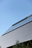 Solar panel. I have seen that the solar panel is installed on the roof of the house Stock Photo