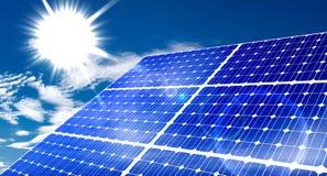 Solar panel. Renewable, alternative solar energy, sun-power plant on sky background royalty free illustration