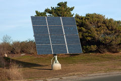 Solar Panel. Modern solar panel used for generating electricity from the sunlight Royalty Free Stock Photography