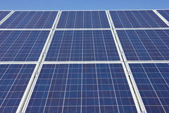 Solar Panel. Close up against a blue sky Stock Image