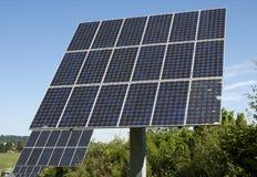 Solar panel. Free standing Polycristalline solar panel moduls Stock Images