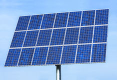 Solar panel. In front of blue sky Stock Photo
