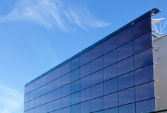 Solar panel. Electric solar panel on factory building wall Stock Images