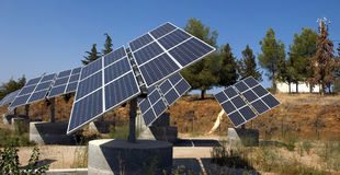 Solar panel. View of an array of solar panels royalty free stock images