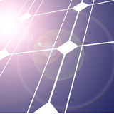 Solar panel. With intense lighting Stock Photo