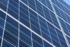 Solar panel. Solar cell on the panel Stock Images