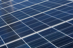 Solar panel. Solar cell on the panel Stock Photo