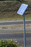 Solar panel. S mounted next to a highway Royalty Free Stock Photos