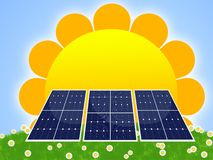 Solar panel. Illustration of solar panel for renewable energy Royalty Free Stock Images