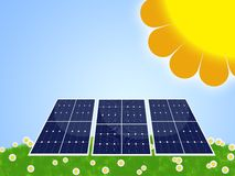 Solar panel. Illustration of solar panel for renewable energy Stock Images